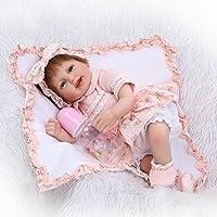 NPKDOLLシミュレーションRebornベビー人形ソフトSiliconeビニール18インチ45 cm Lifelike Vivid Toy Boy Girl rd45 C052 a Eyes Open
