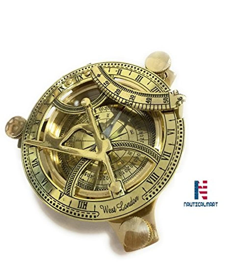 失われたランダム嫉妬nm030314 a真鍮の日時計コンパス3.5