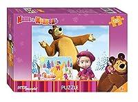 4ボックスパズルには54と80アイテムMasha and the Bear Toys Childrenモザイク