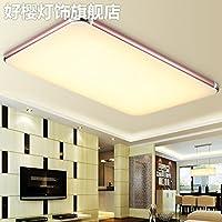 Minimalist Modern Atmosphere yposionリビングルームライトとスタイリッシュな超薄型Sローズゴールド天井ランプ暖かいロマンチックライト寝室、650* 430mm