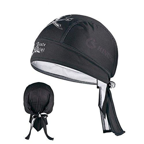 インナーキャップ ヘルメット バンダナキャップ 吸汗 速乾 UVカット フリーサイズ ロードバイク・自転車・バイク・アウトドア用 ヘルメットインナー (A)