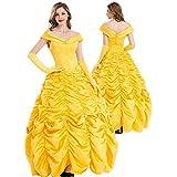 【 本格的 】monoii 美女と野獣 ラ ・ ベル コスプレ 衣装 レディース ハロウィン コスチューム 大人 ドレス 441