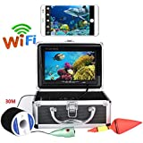 Yuwen 7インチ カラーモニター 50m 1000tvl 水中釣りビデオカメラキット HD WiFi ワイヤレス iOS Androidアプリ用 ビデオ録画と CCDとHD 1000 TVラインカメラに対応