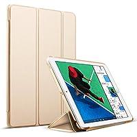 iPad Air2 ケース 超軽量 極薄 スマートカバー オートスリープ機能 ハードケース 三つ折スタンド 保護カバー iPad6 9.7インチ専用 (ipad pro2, ゴールド) [並行輸入品]