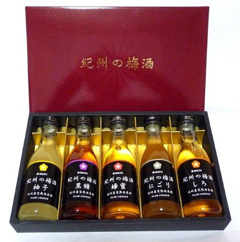 【中田食品】紀州の梅酒 あじいろ5本セット 180ml