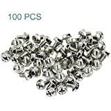 Maxmoral 100pcs Toothed Hex 6/32 SCREW 6 - 32 Computer PC Case Hard Drive Motherboard Mounting Screws.