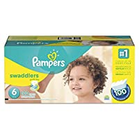Swaddlers Diapers, Size 6: 35 To 43 Lbs, 100/carton by PAMPERS