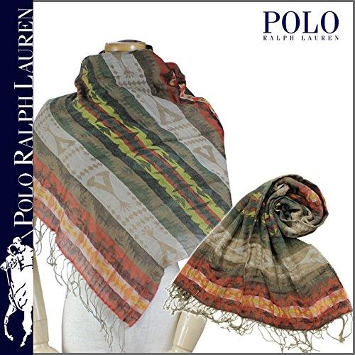 (ポロ ラルフローレン) POLO by RALPH LAUREN スカーフ ストール メンズ ジャガード キャメル SOUTHWESTERN JACQUARD SCARF ONE SIZE (並行輸入品)