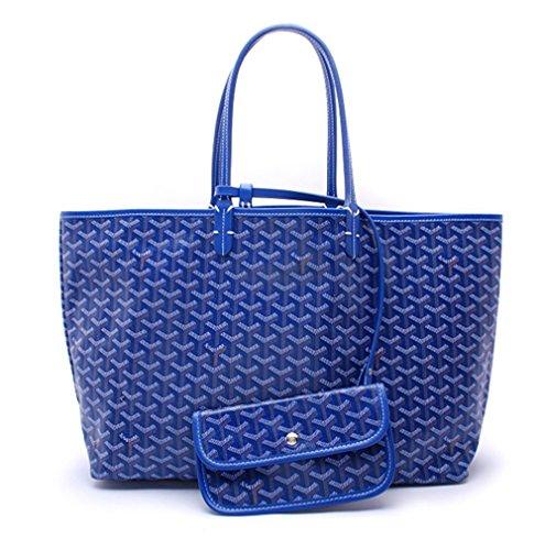 ゴヤール GOYARD トートバッグ ショルダー レディース 通勤バッグ 2way 軽量 大容量 (M, Blue) [並行輸入品]