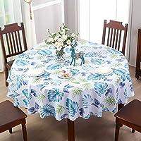 テーブルクロス ダイニングテーブルの丸テーブルのホテルのコーヒーテーブルのための防水および耐油性の使い捨て可能なテーブルクロスポリ塩化ビニール (Color : B, Size : 138CM)