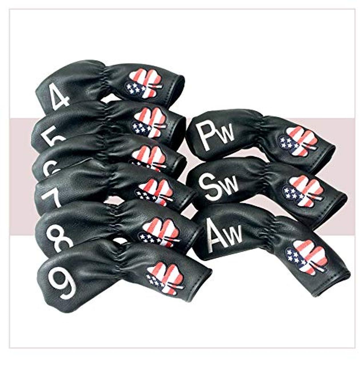 避けられないなめらか願うゴルフアイアンキャップゴルフアイアンキャップゴルフクラブアイアンスリーブウェッジ形状4 5 6 7 8 9、P、A、S、L、X