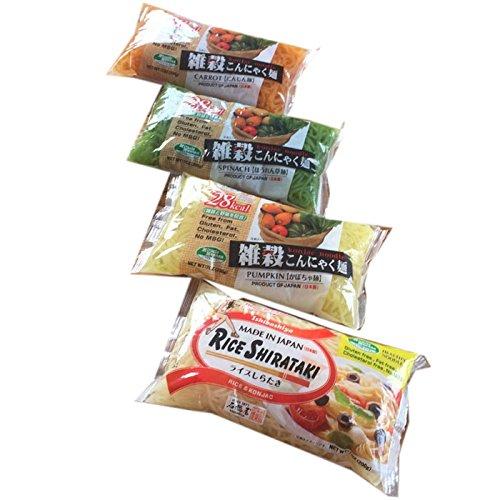 石橋屋グルテンフリーこんにゃく麺詰め合わせセット4種類20食(雑穀+ライス)