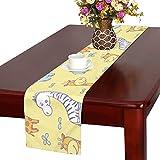 GGSXD テーブルランナー 大きいカバ クロス 食卓カバー 麻綿製 欧米 おしゃれ 16 Inch X 72 Inch (40cm X 182cm) キッチン ダイニング ホーム デコレーション モダン リビング 洗える