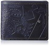 [キャサリンハムネットロンドン] 二つ折り財布 国産キングエンボスプルアップレザー CASINO 490-50101 3 ネイビー
