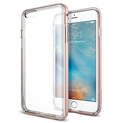 【Spigen】 iPhone6s Plus ケース / iPhone6 Plus ケース, ネオ・ハイブリッド EX [ 二重構造 スリム フィット ] アイフォン6s プラス / 6 プラス 用 (ゴールド・ローズ SGP11729)