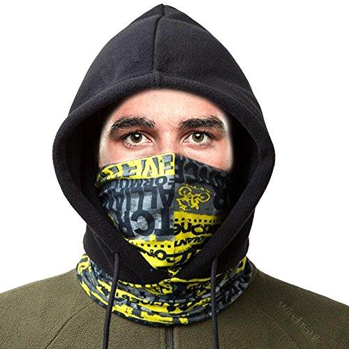 Niidor フェイスマスク 目出し帽 ネックウォーマー 防寒マスク ヘルメット 花粉症対策 ネックゲーター 通気 保温 速乾 UVカット 自転車 バイク 山登り アウトドア 男女兼用 厚い