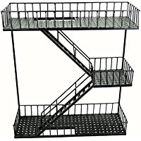 BW装飾メタルクラフトFire Escape Stairs壁アート、壁シェルフ、業界アート