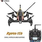 【国内在庫】Walkera ワルケラ Rodeo 150 ドローン(ブラック) + DEVO7送信機 (カメラ/バッテリー/充電器付) Rodeo150日本語マニュアル付