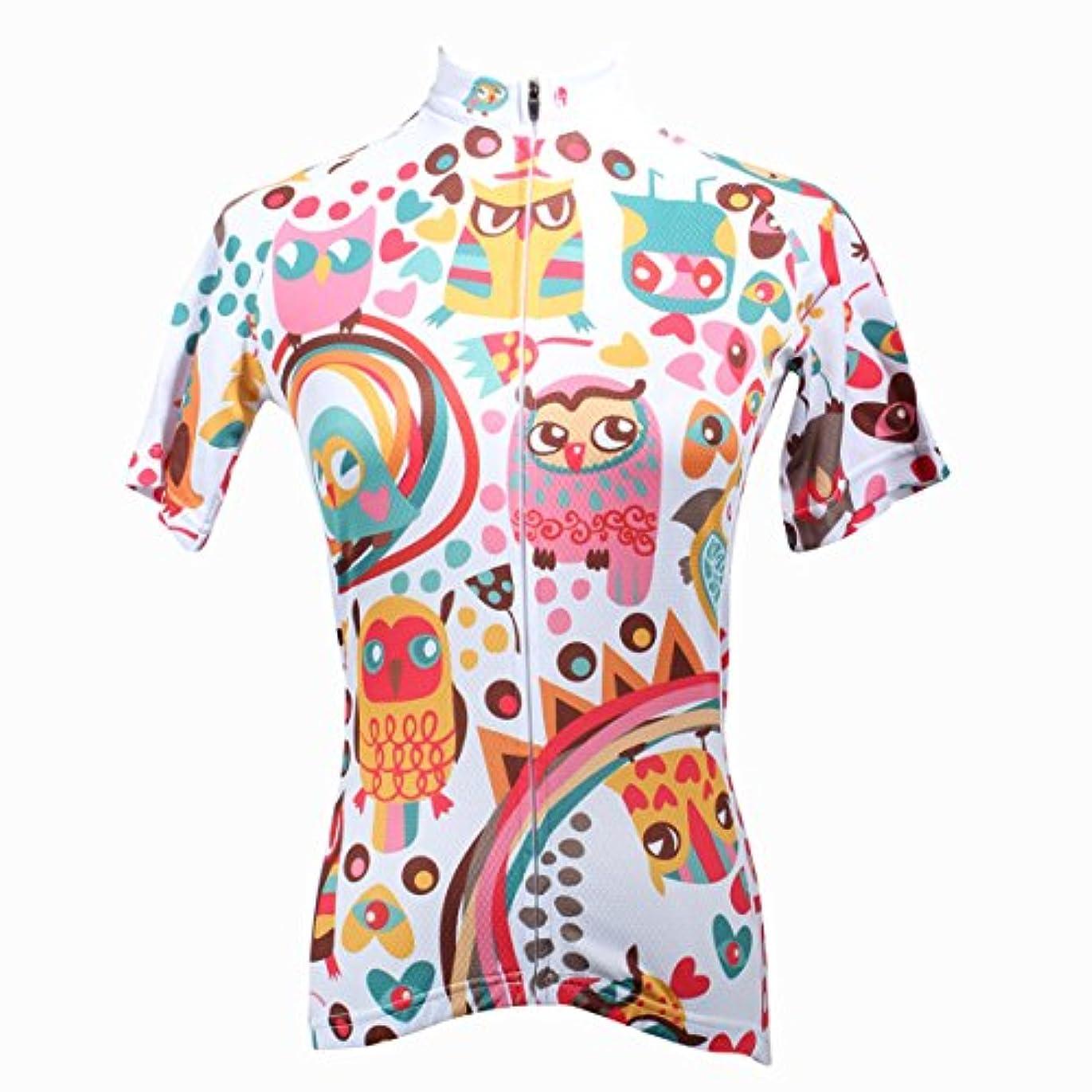 精査する逃れるスープ[ILPALADINO] #195 高品質サイクルウェア 女性用 短袖 cycling clothes サイクリングジャージ コンプレッションウェア パワーストレッチ MTB レーサー 自転車服装