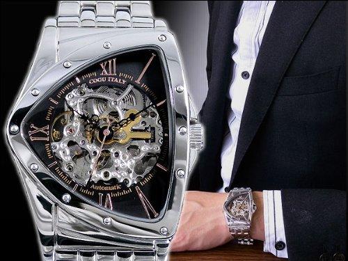[コグ] COGU 腕時計 自動巻き フルスケルトン BS0TM-BRG メンズ