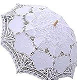 J's select レディース 日傘 レース刺繍 (A:ホワイト)
