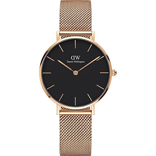 Daniel Wellington (ダニエル ウェリントン) 腕時計 CLASSIC PETITE 32mm [並行輸入品] (ローズゴールド+ブラック)