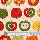 おしゃれリンゴのひみつ(アイボリー) キルティング生地 ハンドメイド 手作り用生地 入園入学 入園準備 入学準備 T0152000