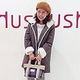 (ハッシュアッシュ) HusHusH あったかキルティングコート 51199002 02(M) ダークブラウン(043)