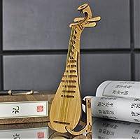 wanrane Cute Kids Musical Toy Luteモデル音楽楽器撮影小道具木製ホームデコレーション(竹色)