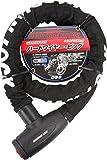 OSS ( 大阪繊維資材 ) ワイヤーロック GUARDIAN LOCK ハードワイヤー・ビッグ Black HWB-1000