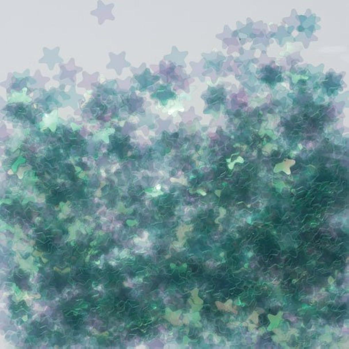 丈夫神聖利益ピカエース ネイル用パウダー 星オーロラ 耐溶剤 #770 グリーン 0.5g
