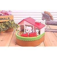 マネー バンク 猫とマウスの列車のピギーバンクの音楽電気マネーバンクの子供の贈り物(虎の猫)
