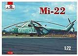 A Model 1/72 ミル Mi-22 フック空中指揮ヘリコプター プラモデル AM72149