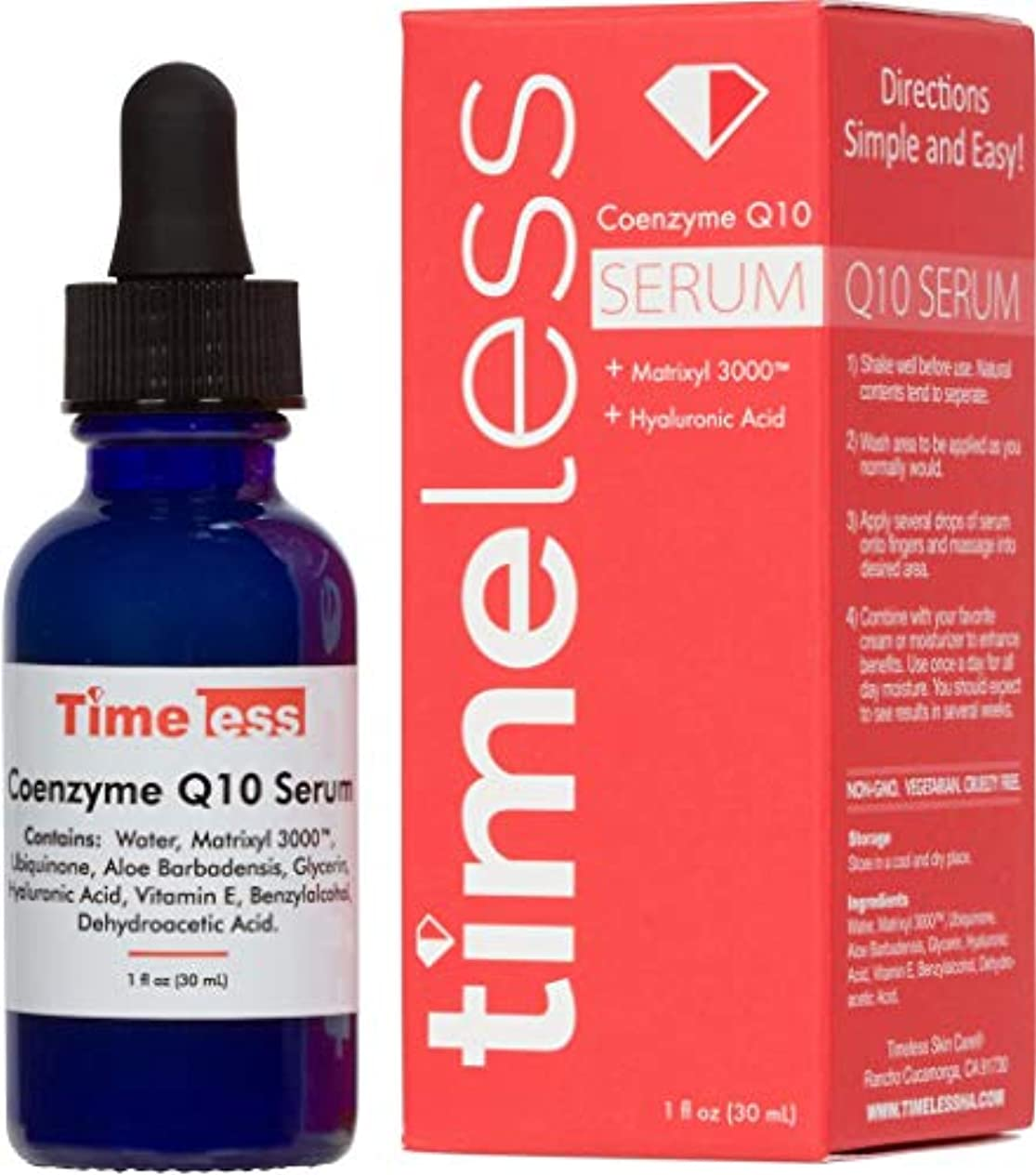 委員長悲しい実験Timeless Skin Care Coenzyme Q10 w/Matrixyl 3000 Serum 1oz / 30ml - Sealed & Fresh Guaranteed! Dispatch from the...