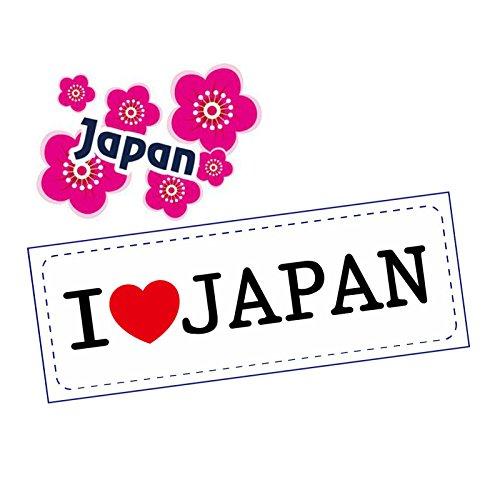日本 JAPAN ご当地ステッカー2枚セット 耐水加工紙 シ...