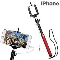 HAMEE iPhone専用 撮影スティック Selfie Stick(レッド) SELFIESTICKRD