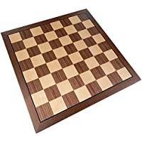 Kratos Chess Board with Inlaid Walnut Wood - Board Only - 15 Inch