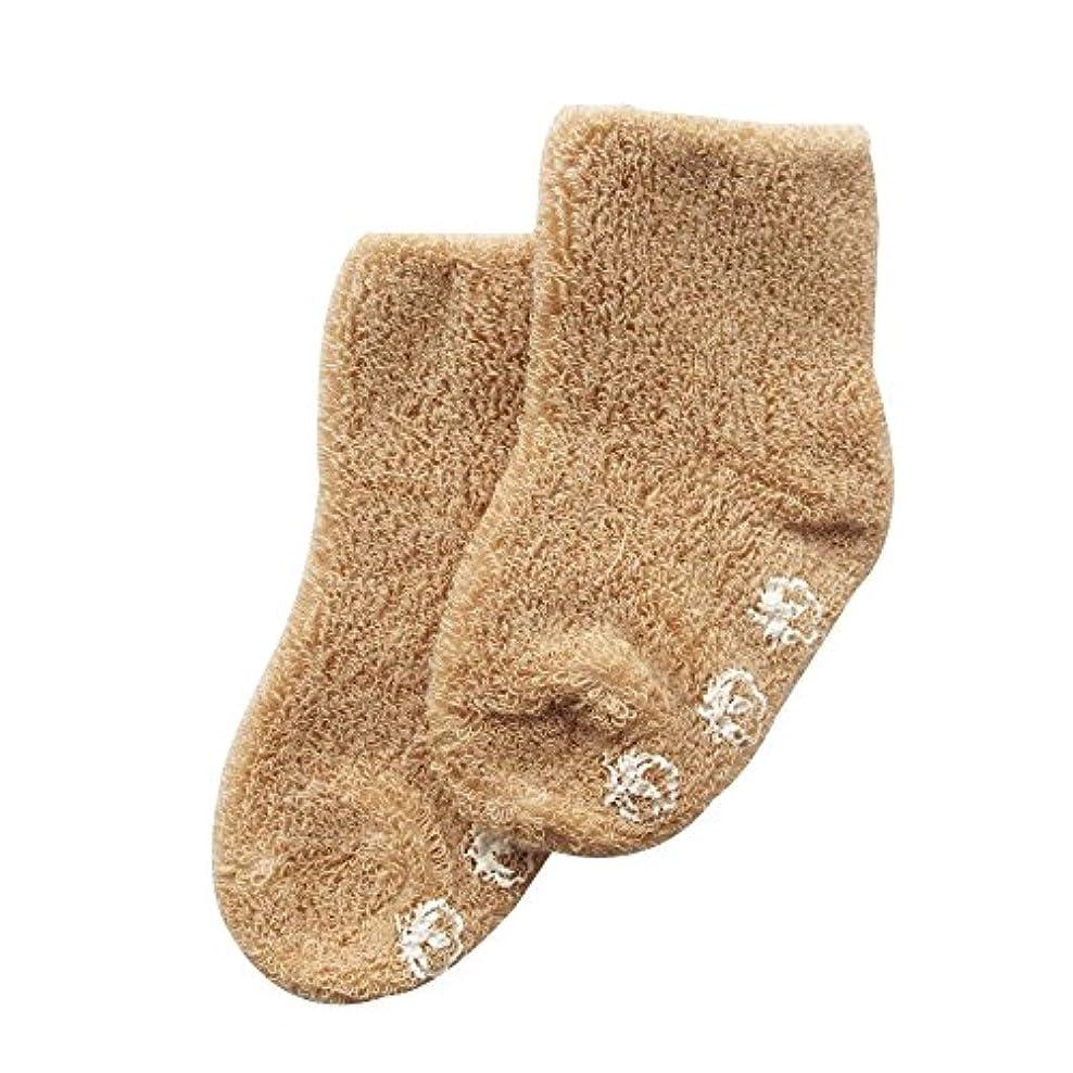 シロクマシンプトンビジネスオーガニックコットン 日本製 ベビー用ふんわりパイルソックス 靴下 ブラウン ORGANIC GARDEN オーガニックガーデン