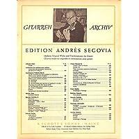 [冊子][楽譜]GITARREN ARCHIV Andres Segovia No.110 Manuel M. Ponce SONATA III アンドレス・セゴビア