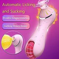 ZBZYXA 女性のおもちゃは大容量の電池のための唇の暖めそして吸う特別なマッサージの棒を模倣します (Color : Pink)
