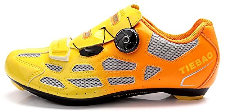最後に遠いロビーWeideng Tiebao オートロッククイックレーススタイル 自転車スポーツシューズ メンズ ロードサイクリングシューズ ポリウレタンメッシュ 通気性SPD&ユニセックス