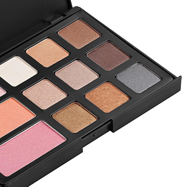 布香ばしい士気12色のアイシャドウチークブラッシャーパレットメイクアップ美容化粧品セットキット