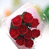 Lovoski 手作り 人形用 ドールハウス用 赤いバラ 花束 レッド  1/12  アクセサリー