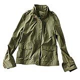 (フェリシモ) IEDITレーベルコレクション 本格仕様で軽やかな着心地 うらはらミリタリージャケット ソフトカーキ M