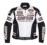 シンプソン(SIMPSON) バイクジャケット メッシュジャケット ホワイト LW SJ-7115