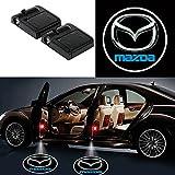 Alichee LED ドアカーテシランプ レーザーロゴライトドアウェルカムライト カーテシライト 2件套 (Mazda)