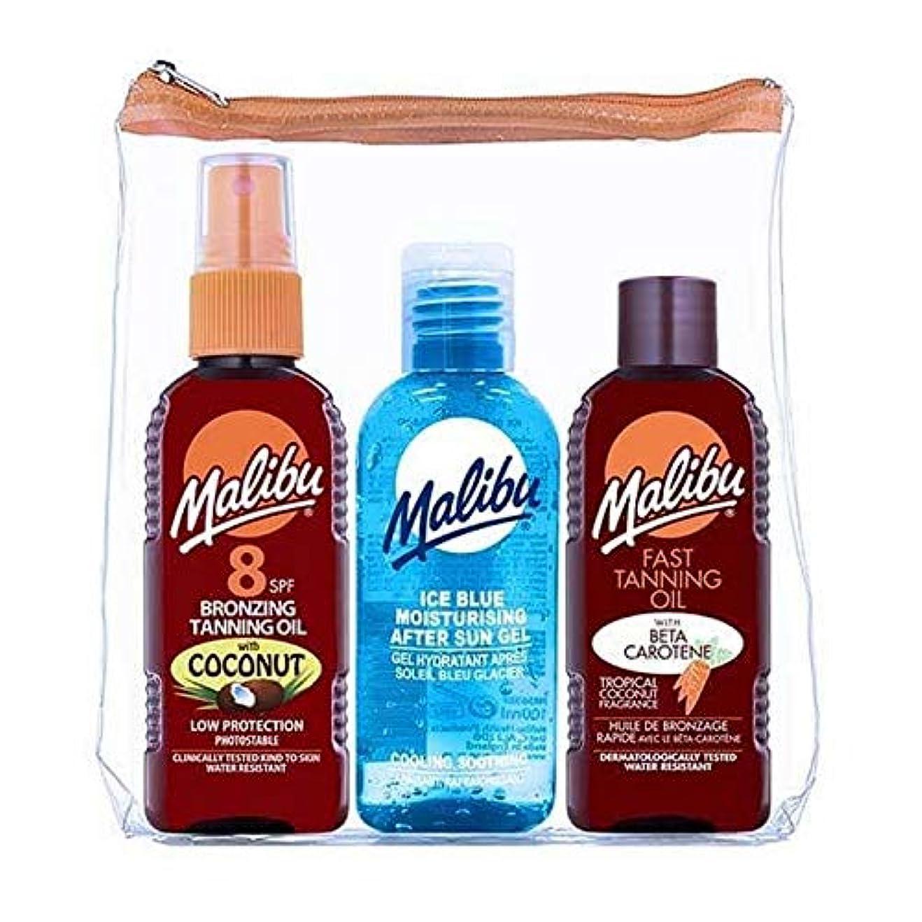 土地素子指[Malibu ] マリブSpf8ココナッツ日焼けオイルのアイスブルー - Malibu SPF8 Coconut Tan Oil Ice Blue [並行輸入品]