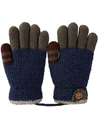 VBIGER 手袋キッズ グローブ 子供用 ニットグローブ 5本指 毛糸 保温 男の子 女の子 通学 編み手袋 幼稚園 4-8歳