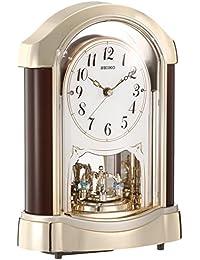 セイコー クロック 置き時計 スタンダード 電波時計 ツイン・パ マホガニー 茶 木地 BY237G SEIKO