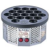 踊る! たこ焼き器から電気式 半自動 踊るたこ焼き器 (18ヶ取)